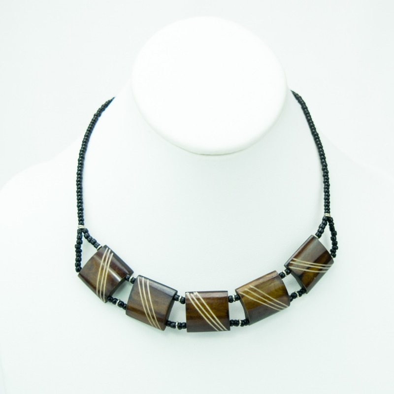 Cow bone Choker Necklace Brown