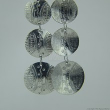 Recycled Aluminium Tiered Disk Earrings 575-105