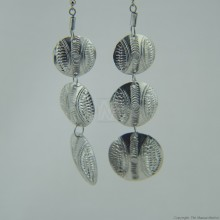Recycled Aluminium Tiered Disk Earrings 572-105