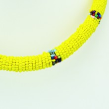 Maasai Yellow with Multi Color Bead Necklace