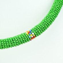 Maasai Green with Multi Color Bead Necklace