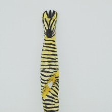 Zebra Twisted Wood Salad Server