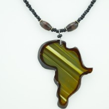 Cow Horn Africa Pendant Necklace