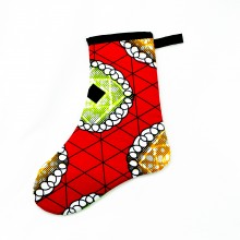 Small African Kitenge Christmas Stocking