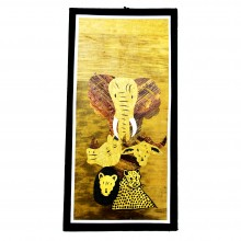 Big Five Game Banana Fiber Art