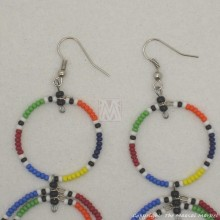 Multi Color Maasai Bead Loop Earring