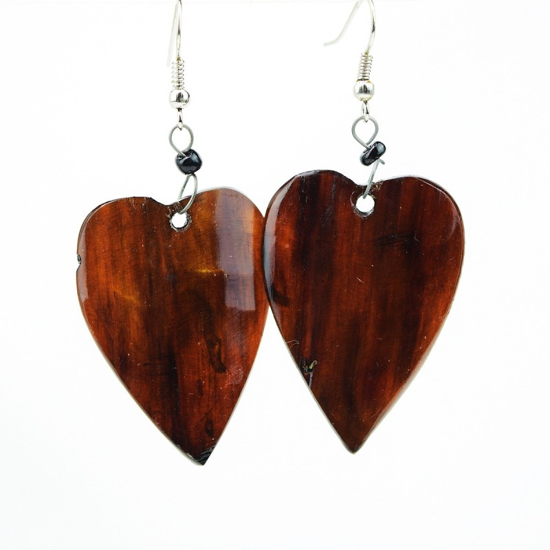 Heart Cow Horn Earrings