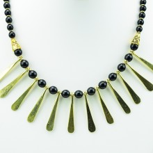 Brass Spokes Sunburst Necklace