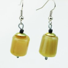 Cow Horn Bead Earrings