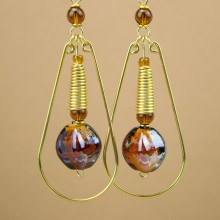 Amani Brass Earrings