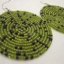 Olive Green Earrings 196-83