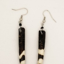 Elephant Tusk Batik Bone Earrings 51-23
