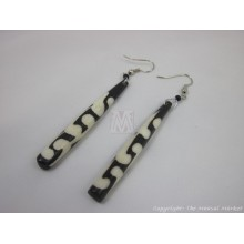 Mud Cloth Print Batik Earrings 528-22