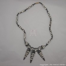 Mud Cloth Trade Beads Bone Arrow Pendant Necklace