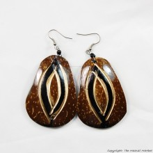 Coconut Shell Earrings 722-1-98