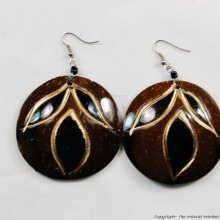 Coconut Shell Earrings 721-3-99