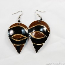 Coconut Shell Earrings 722-2-98