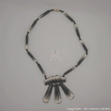 Cow Bone Batik Pendant Necklace
