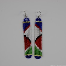 Maasai Glass Beads Multi Color Earrings 231-378