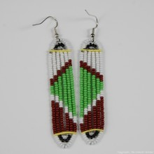 Maasai Glass Beads Multi Color Earrings 231-381