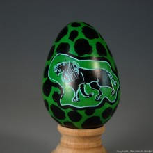 Lion Kisii Soapstone Easter Eggs