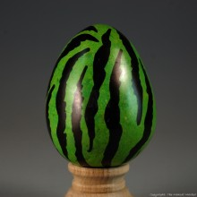 Green Tiger Print Kisii Soapstone Easter Eggs