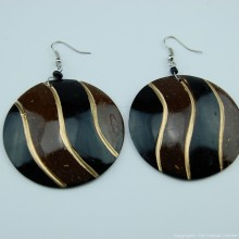 Coconut Shell Earrings 741-1-57