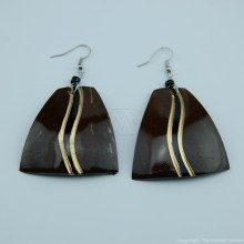 Coconut Shell Earrings 742-1-49