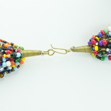 Multi Color Strand Maasai Bead Necklace 472-106