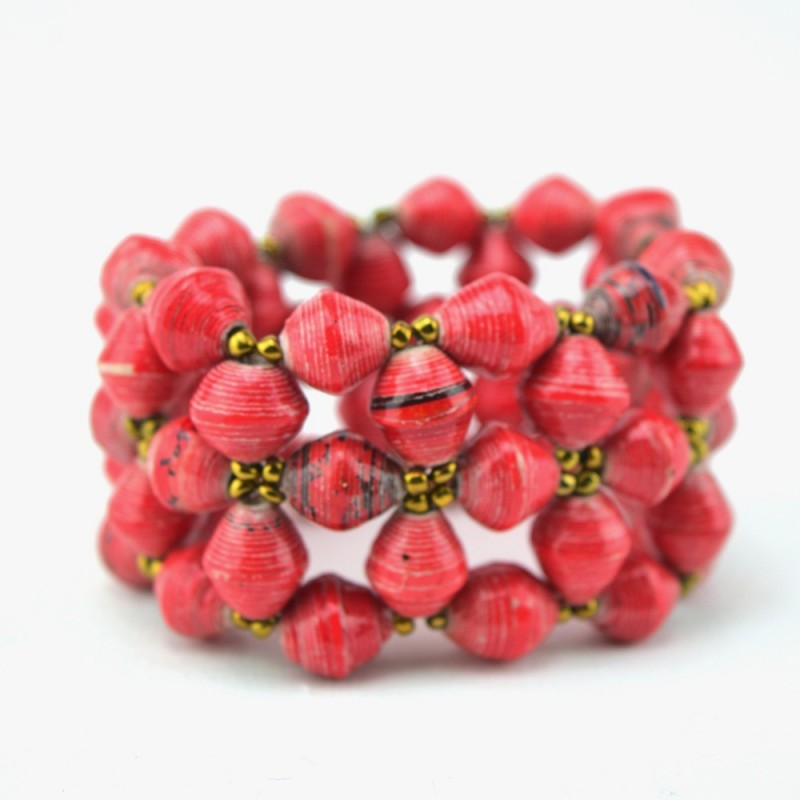 red erwin snakeskin bracelet pearl products bangle