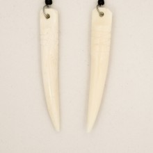 Tusk shape Cow Bone  Earrings