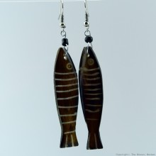 Cow Bone Fish Earrings 704-1-97