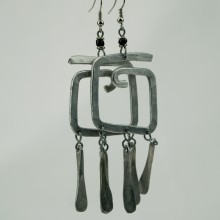 Recycled Aluminium Wire earrings
