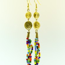 Multi Color Bead Earrings 129-22