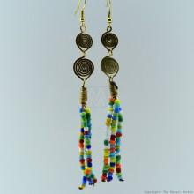 Maasai Multi Color Beaded Earrings 130-24
