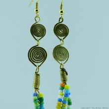 Maasai Multi Color Beaded Earrings 130-24