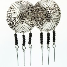 Recycled Round aluminium Maasai Bead Earrings 233-100