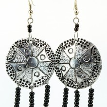 Recycled Round aluminium Maasai Bead Earrings 232-100
