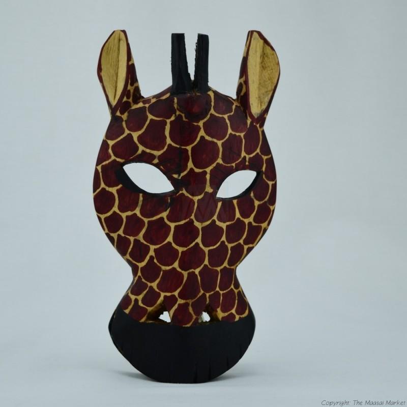Wood Giraffe Wall Decor Mask