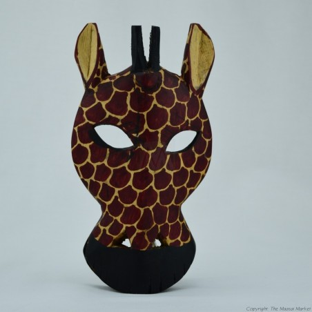 Wood Giraffe Wall Decor Mask