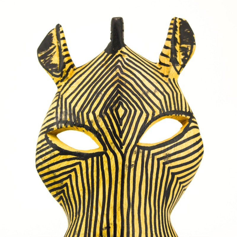 Wood Zebra Wall Decor Mask