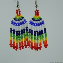 Maasai Rainbow Colors Beaded Earrings 590-58