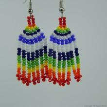 Maasai Rainbow Colors Beaded Earrings 590-58