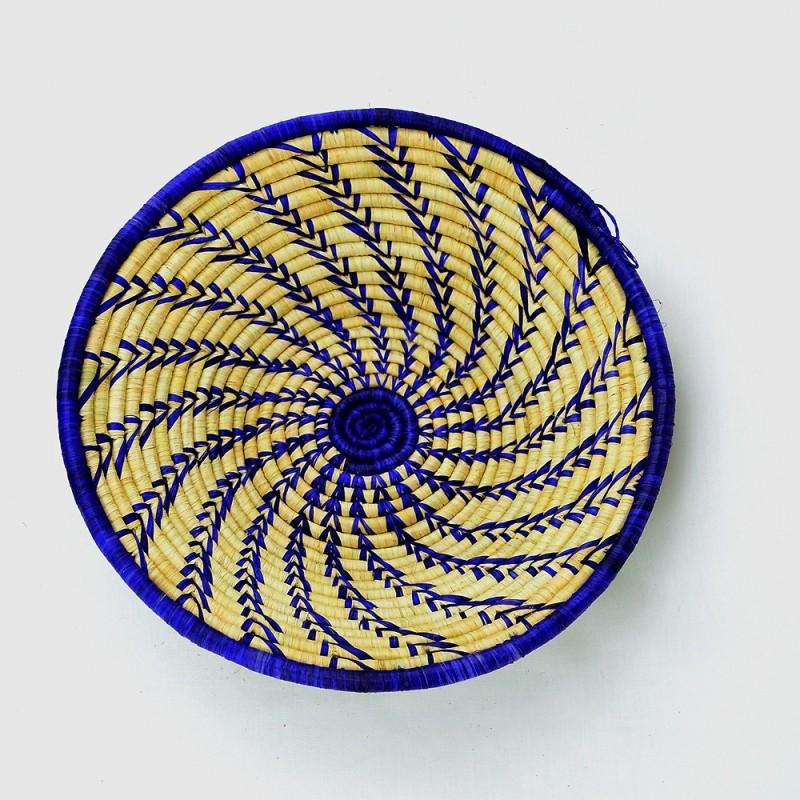 Uganda Handmade Banana Leaf/ Raffia Whirling Reeds Basket