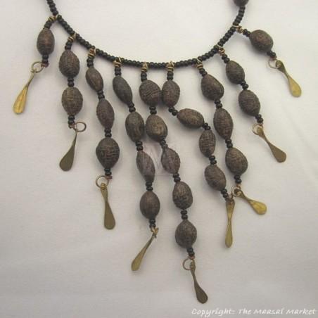 Seeds and Maasai Beads Necklace