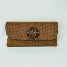 Large Straight Jute Clutch