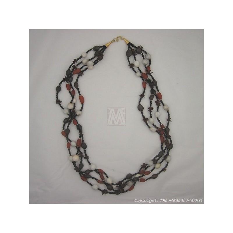 Maasai Beads Seeds Strand Necklace
