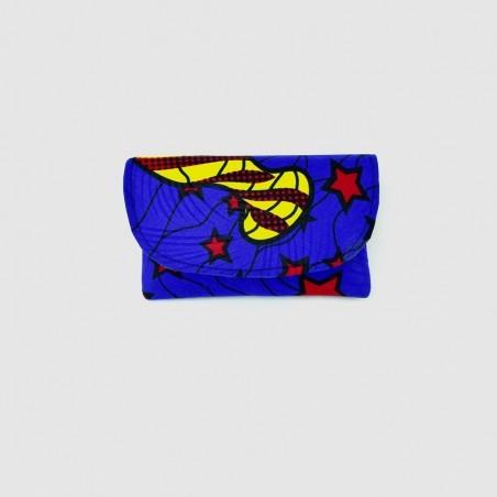 Small Blue Kitenge Fabric Clutch