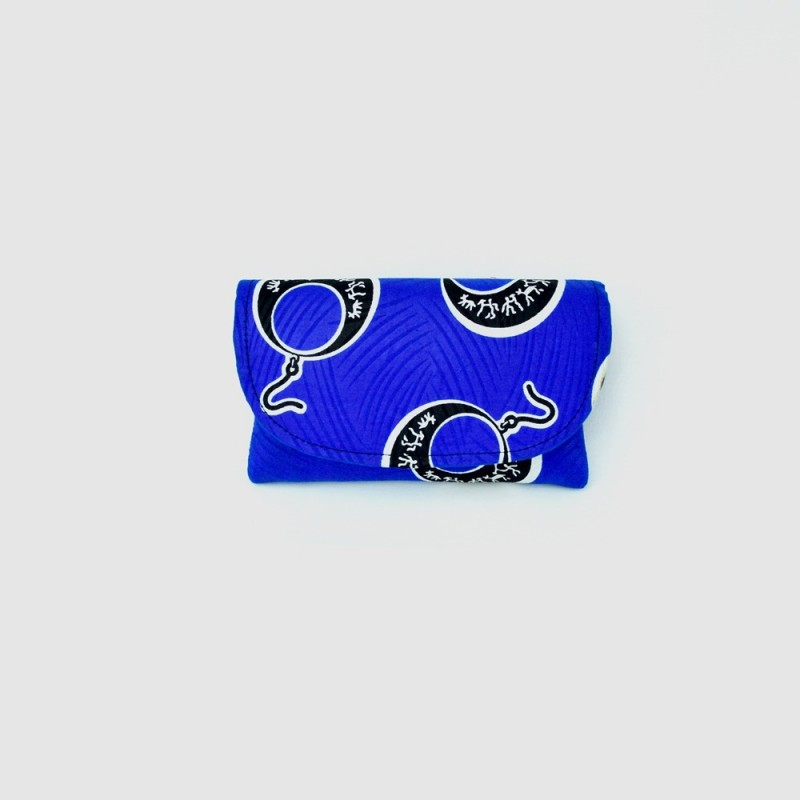 Small Blue Kitenge Fabric Clutch