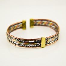 Brass, Copper, aluminium Wire Cuff Bracelet